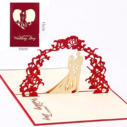 en Valentine Lover Happy Birthday Jahrestag Grußkarten (Rot) (Valentine Karten Für Kinder)