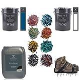Granit Boden Bodenfliesen Bodenbeschichtung Set Farbchips - Beige-Rot-Grau 100qm