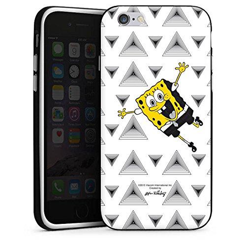 Apple iPhone X Silikon Hülle Case Schutzhülle Spongebob Fanartikel Merchandise Triangle Mono Silikon Case schwarz / weiß