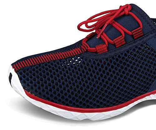 Santiro Le Glissement de l'homme Sur Sneaker Mesh Chaussures Haute-eau Bleu Marine