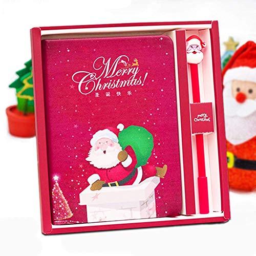 fte Set - niedliches Kaktus-Tagebuch, schönes Geburtstagsgeschenk für Mädchen im Alter 3 4 5 6 7 8 9 + 6.69x7.87 inch Santa-2 ()