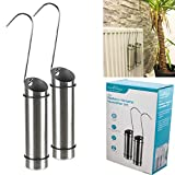 Fineway. 2 x Radiator Hanging Humidifiers Dry Air Water Humidity Control Stainless Steel – 300ml – Portable - With 2 x S Hooks