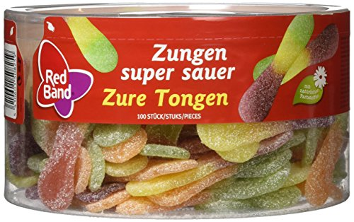 Gurke Band (Red Band Zungen super sauer 100 Stück, 1er Pack (1 x 1.2 kg))