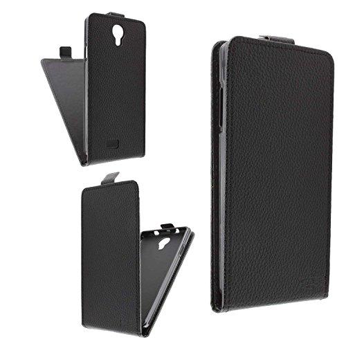 caseroxx Flip Cover für Archos 50D Neon, Tasche (Flip Cover in schwarz)