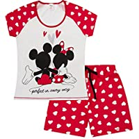 Womens Disney Minnie and Mickey Mouse Perfect in Everyway Short Ladies Pyjamas