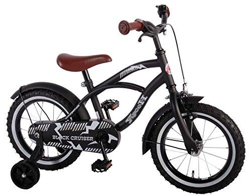 Unbekannt 14 Zoll Kinder Fahrrad Kindefahrrad Jungenfahrrad Mädchenfahrrad Rücktrittbremse Rad Bike Cruiser Matt Schwarz 41401 Yipeeh -