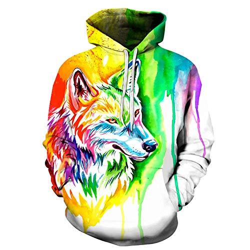 Hoodies Men Women Sweatshirts 3D Animal Hoodies Unisex Tracksuits Pullover Novelty Streetwear,LMS214,S