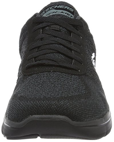 Skechers Flex Advantage 2.0-Golden Point, Baskets Basses Homme Noir (BBK)