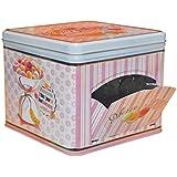 NATIVES 610010 Happy thérapie-Macarons Boîte à biscuit Métal Multicolore 17 x 21 x 17 cm