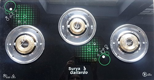 Surya Gallardo 3 Burner Auto-Ignition Gas Stove-Green (Free Shipping)
