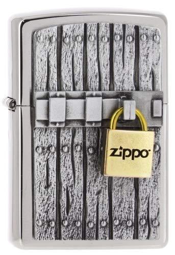 Zippo Close Vintage - Chrome Brushed - Spring 2017 Feuerzeug, Silber, One Size (Zippo Männer Feuerzeuge Für Vintage)