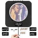 DVD - Player mit Bluetooth, portablen DVD - Player zur doppelten Wand ziehen mit Full hd 1080p - redner, Fernbedienung und ukw - Radio & Timer & USB & av - hdmi - Output und LCD - Display schwarz.
