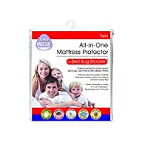 Bed Bug Blocker All-In-One Zip-Up Mattress Protector Prevents Bugs, Mites and Allergens, Twin