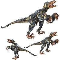 LU2000 sólida dinosaurio modelo Yutyrannus plástico animal juguetes dinosaurio colección decoración ...