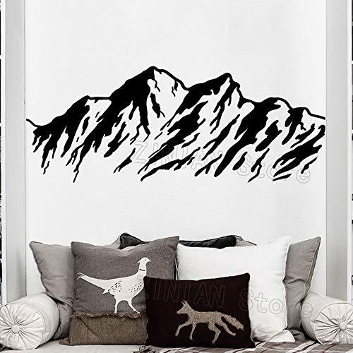 guijiumai Natur Berge Wandtattoo Aufkleber Wohnkultur Wohnzimmer Vinyl Aufkleber Schlafzimmer Büro Abnehmbare Bergtapete grau 50X120 cm