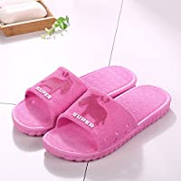 fankou Summer Sandals Men Tide Bathroom Bath Anti-Slip Thick Outside The Home Interior Cool Slippers,37-38, [The Red-