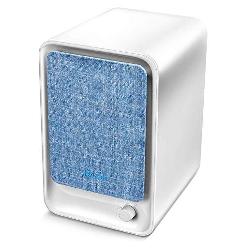 LEVOIT LV-H126 Purificador de Aire con Filtro HEPA Combinado y Filtro de Carbón para Personas Alérgicas y Fumadoras, Liviano y Portátil, Ideal para Estaciones de Trabajo de Oficina, Azul
