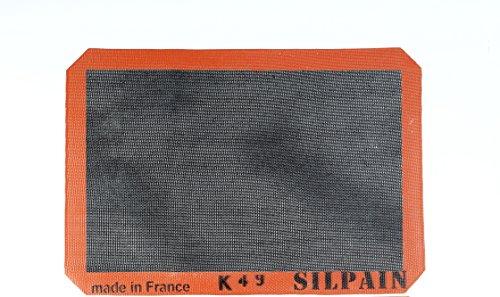 Silpat Silpain Premium Antihaft-Silikon-Backmatte für Brot, 27,9 x 40,6 cm, Schwarz - Silpat Non-stick Baking Mat