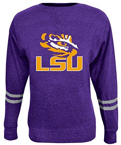 Alta Gracia NCAA Damen Crew Sweatshirt, Damen, Rosaura, violett, X-Large Scoop Neck Fleece Sweatshirt