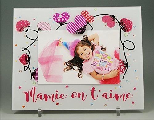 Cadre Photo Aimant pour Mamie – (Cadeaux originaux pour Papi et Mamie – Fête des Grands mères, Anniversaire, Noël.)