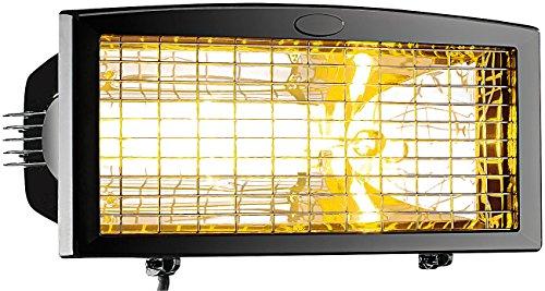 Semptec Außenheizstrahler: Infrarot-Außen-Heizstrahler IRW-1500 mit Goldröhre, 1.500 Watt, IPX4 (Heizstrahler Balkon)