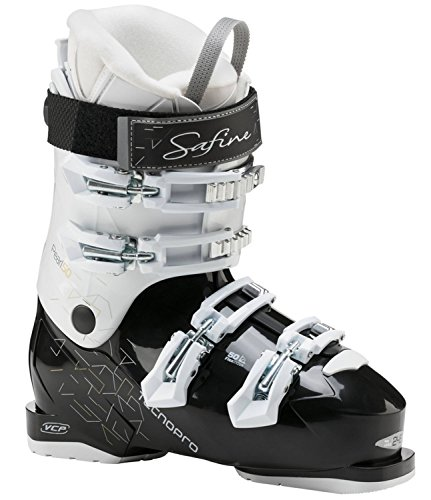 Tecno Pro Damen Ski Schuh Skischuh Safine Pearl 50 Schwarz Weiss, Größe:27