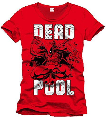 Marvel Herren T-Shirt, mit Print Gr. X-Large, Rot - Rot