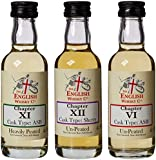 English Whisky Company Miniature Whiskey Gift Set (3 x 5 cl)