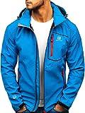 BOLF Herren Softshell Funktionsjacke Kapuze Outdoor Sportlicher Stil FREESTEP AB152 Blau XL [4D4]