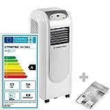 TROTEC Lokales mobiles Klimagerät Klimaanlage PAC 2000 E mit 2,1 kW / 7.200 Btu, EEK A (inkl. Timer-Funktion, Fernbedienung, 3 Ventilationsstufen, Einstellbare Luftausblasrichtung)
