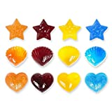 Sweets, Gummy Bear Moulds, Chocolate Silicone Moulds & Ice Cube Trays, Candy, Heart, Star and Seashell Moulds for Kids Partys, Set of 6