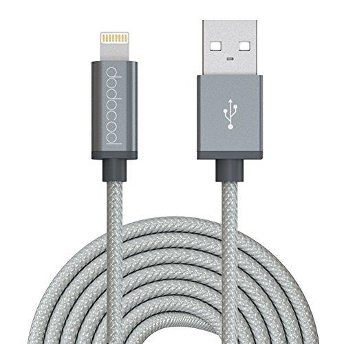 dodocool-Cavo-Lightning-3m-MFi-Certificato-Trasmissione-Dati-e-Ricarica-per-iPhone7-Plus-7-SE-6s-Plus-6s-6-Plus-6-5-iPad-Air-12-iPad-Pro-iPad-mini-1234-iPod-touch-5th-nano-7th-Grigio