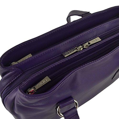 Mala Leather, Borsa a spalla donna Rosso viola viola