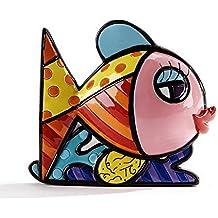 Romero Britto Mini Figur - Pink Fisch - Pop Art aus Miami - grau #334448