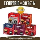 144 Capsule Caffe Sistema Lavazza A Modo Mio Originale a Scelta: SUERTE, QUALITA' ROSSA, INTENSO, PASSIONALE, CREMA E GUSTO Box da 36 capsule