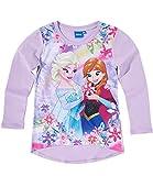 Disney Die Eiskönigin Elsa & Anna Mädchen Langarmshirt - violett - 98