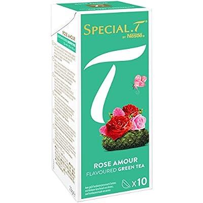 SPECIAL.T by Nestlé Thé Vert Rose Amour Boîte 10 Capsules 23 g - Lot de 6