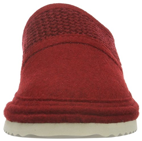 Haflinger Unisex-Erwachsene Sky Pantoffeln Rot (Paprika 42)