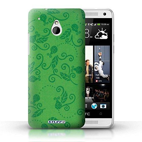 Kobalt® Imprimé Etui / Coque pour HTC One/1 Mini / Jaune conception / Série Motif Coccinelle Vert