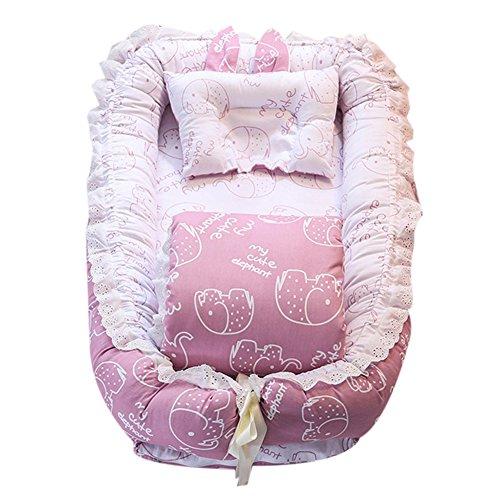 Babybett mit Quilt (0–24Monate) Abnehmbare Baby Isolierte Bett Neugeborene Baby Schlafsack Artefakt klappbar Bionic Bett mit eine Steppdecke