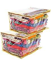 Amazon Brand - Solimo 2-Piece Vinyl Saree Cover, Transparent