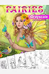 Fairies. GRAYSCALE Coloring Book: Coloring Book for Adults Broché