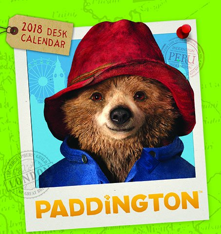 Paddington Bear Range - Desk Calendar 2018