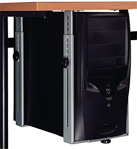 Eurosell - Premium Unterbau PC Computer Tower Halter Halterung Ständer - Unter Tisch Montage zb für Büro Schreibtisch Multimedia Gamer (Multimedia-tisch)
