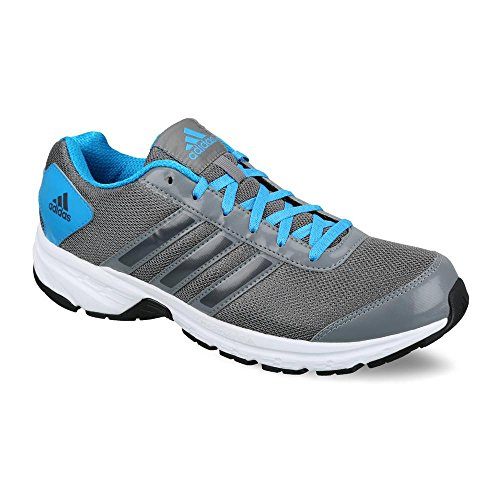 adidas Men's Adisonic M Grey, Black and Blue Mesh Sport Running Shoes - 10 UK