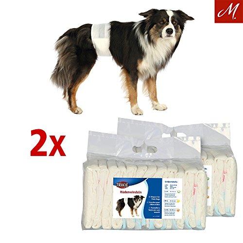 Trixie 2X Rüdenwindeln, Hundewindeln - Einwegwindeln, 12 Stück (L-XL, 60-80 cm) -