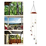 Color-Changing LED Solar Mobile Wind Glockenspiel, Pathonor LED Changing Light Farbe Sechs Wishing Flasche Wind Chimes Für Haus / Party / Nacht Garten Dekoration rot Color-Changing