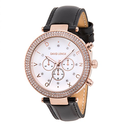 David Lenox Rose Gold Damen Uhr mit Lederband Echt Leder  Stil dl0230