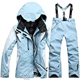 scallop Damen Wetterfeste Schneeanzug Snowboardinganzug Skianzug Zweiteilige Ski Suit Ski Jacke+Schneehose Winddicht wasserdicht