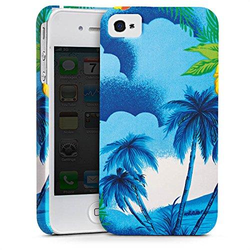 Apple iPhone X Silikon Hülle Case Schutzhülle Urlaub Palmen Hawaii Premium Case glänzend